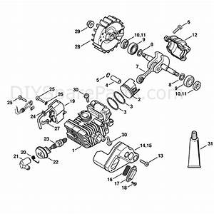 Stihl Ms 192 Chainsaw  Ms192c  Parts Diagram  Cylinder