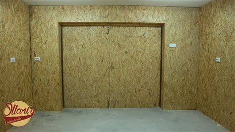 insulating  garage adding outlets  installing osb