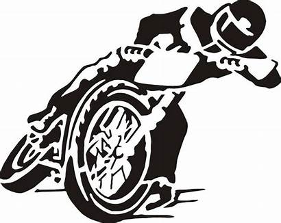 Motorcycle Track Speedway Flat Clipart Sticker Decal