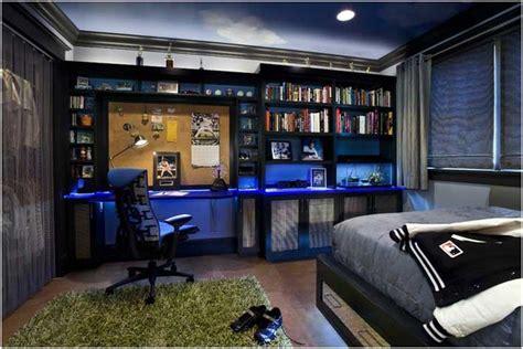 Bilder Ideen Jugendzimmer Junge Schwarze Möbel Blaue