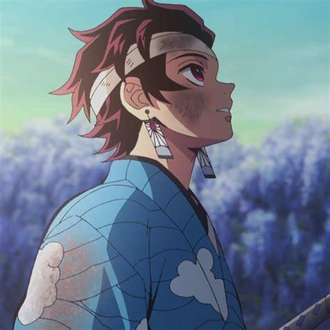 tanjiro kamado aesthetic anime blue anime anime