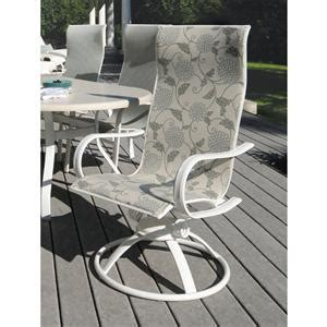 homecrest hill sling high back patio swivel rocker