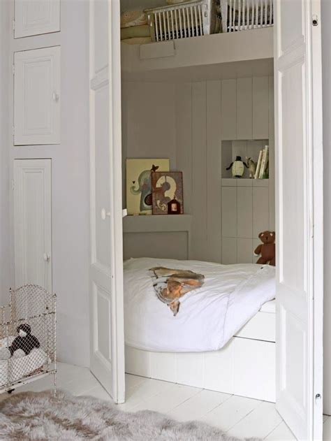 17 best ideas about bed in closet on closet