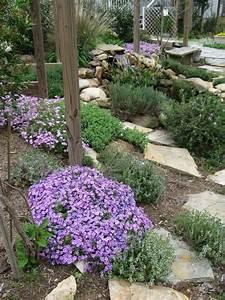 Steine Zum Bepflanzen : mediterrane gartengestaltung bodendecker steine pfad pflanzen thymian steine boden garden ideas ~ Eleganceandgraceweddings.com Haus und Dekorationen