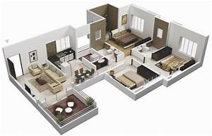 planos casas modernas With marvelous maison sweet home 3d 16 plan de maison 60m2 3d