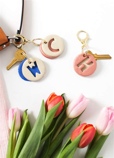 diy clay letter keychain sugar cloth diy accessories
