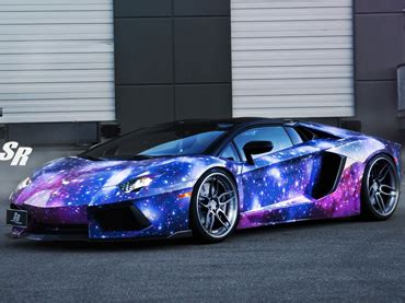 galaxy car paint the galaxy lamborghini aventador roadster is out of this
