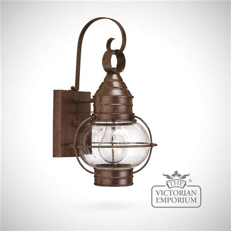 old style wall lights classic onion wall lantern in sienna bronze large