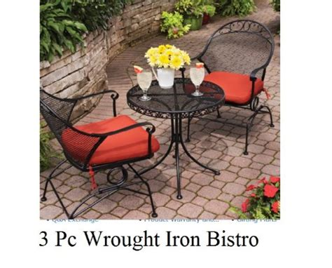 patio sets clearance outdoor wrought iron bistro set w