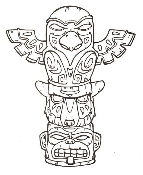 tiki totem templates free tiki faces coloring pages