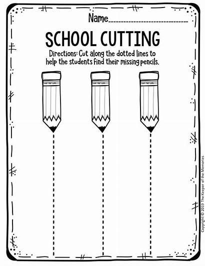 Worksheets Preschool Printable Kindergarten Cutting Activities Pre