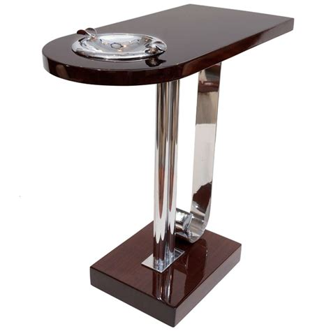 art deco side table art deco ashtray side table at 1stdibs