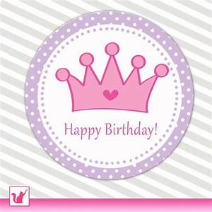 7 best images of purple printable birthday tags With happy birthday crown template