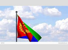 Animated Flag Of Eritrea Animierte Flagge Von Er Stock