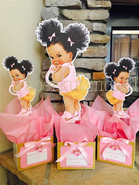 afro puff babies african american baby royal baby shower
