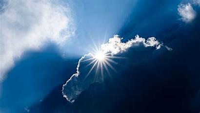 Sun Clouds Rays Sunlight Sky Background 1080p
