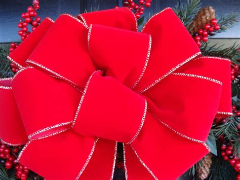 decorative christmas bows wreath bow  christmas wreath