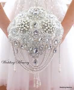 bridesmaids invitation jeweled brooch bouquet wedding bouquet brooch bouquet