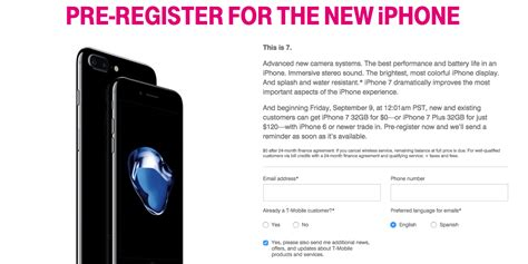 t mobile iphone trade in t mobile delivers superbly iphone 7 offered for free with 2979