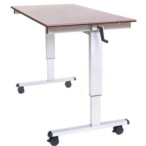 Luxor Crank Adjustable Stand Up Desk Standup Cf60 Dw B H Photo
