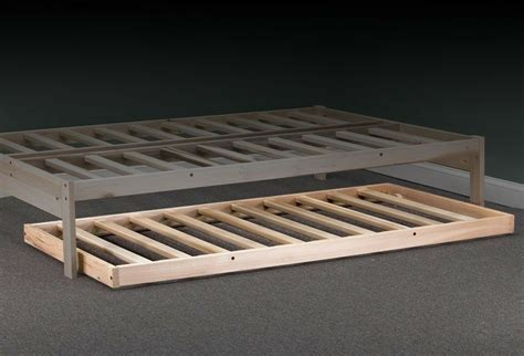 roll  trundle twin size hardwood bed frame ebay