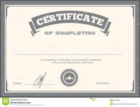 certificate design template stock vector image