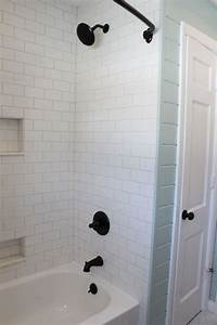 Design House Tub And Shower Faucet Operation New Bathroom The Reveal Subway Tiles Bathroom