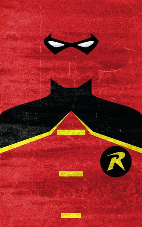 Robin Superhero Poster Super Hero Minimalist Poster