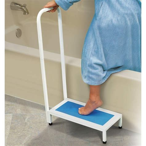 tub step bathtub shower step stool with handle non slip grip