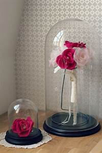 Rose Eternelle Sous Cloche : un bouquet de mari e ternel en soie fuchsia et dentelle le blog d 39 h lo se bijoux de mari e ~ Teatrodelosmanantiales.com Idées de Décoration
