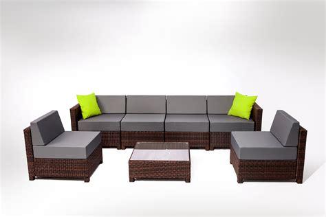wicker sectional sofa indoor mcombo 7pcs wicker patio sectional indoor outdoor sofa