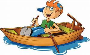 Boat clipart rowing boat - Pencil and in color boat ...