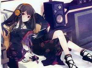 Yukata, Anime, Girls, Kimono, Headphones, Original, Characters, Japanese, Clothes, Ruroo, Manga