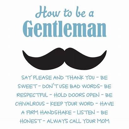 Rules Gentleman Quotes Wall Mustache Decal Wallquotes