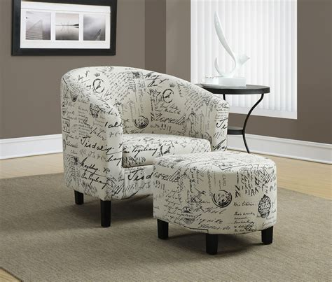 fabric chair with ottoman vintage french fabric accent chair with ottoman from