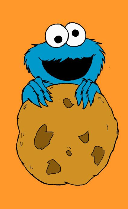 cookie monster clipart drawn pencil   color cookie