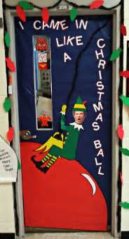 christmas door decorating go for the laughs school