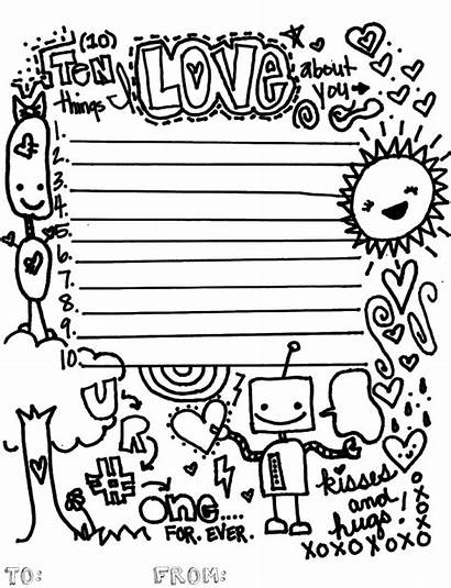 Things Stuff Coloring Pages Fun Printable Valentine