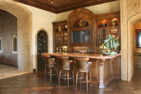 Bar In Family Room bar mediterranean family room san diego by