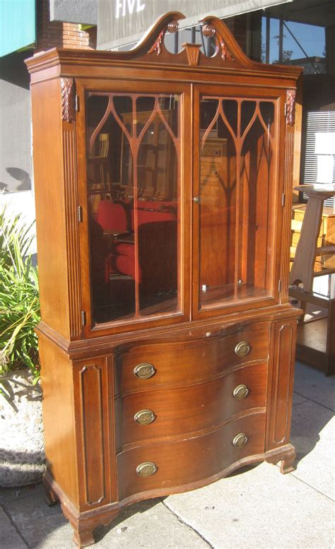 Duncan Phyfe China Cabinet by Uhuru Furniture Collectibles Sold Duncan Phyfe China