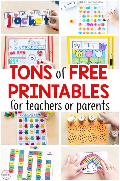 free printable activities for