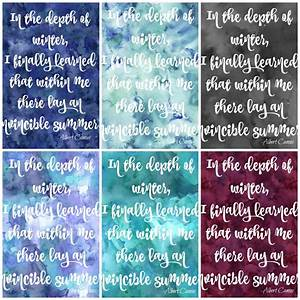Free Printable Watercolour Winter Quote Signs The Happy