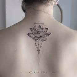 Geometric Flower Tattoo Small