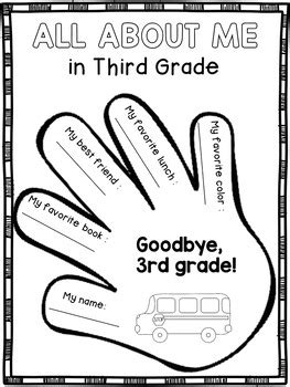 end of the year activities for third grade memory book by
