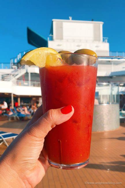 drinks  carnival cruise  bloody mary cocktail
