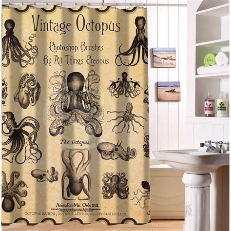 free shipping waterproof shower curtain printed vintage