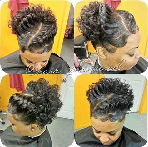natural hand curled  weave  relaxer   braid