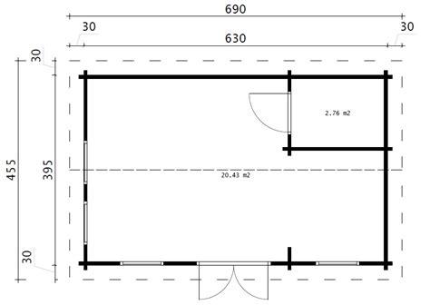 Gartenhaus 4 X 4 Meter by Gartenhaus Mit Badezimmer Schweden A 23m2 6 X 4 M