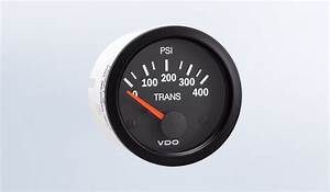 Vision Black 400 Psi Oil Pressure Gauge  Use With Vdo