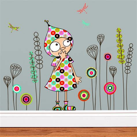 tickers chambre fille princesse stickers jardin de violette stickers enfant